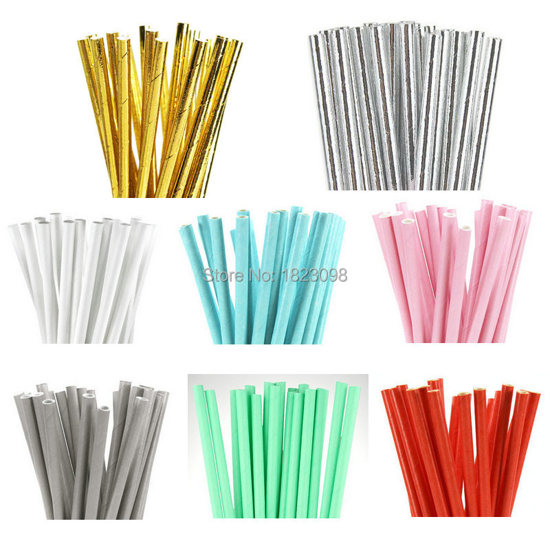 decorative straws for weddings 25pcs lot solid paper straws for birthday wedding 3463