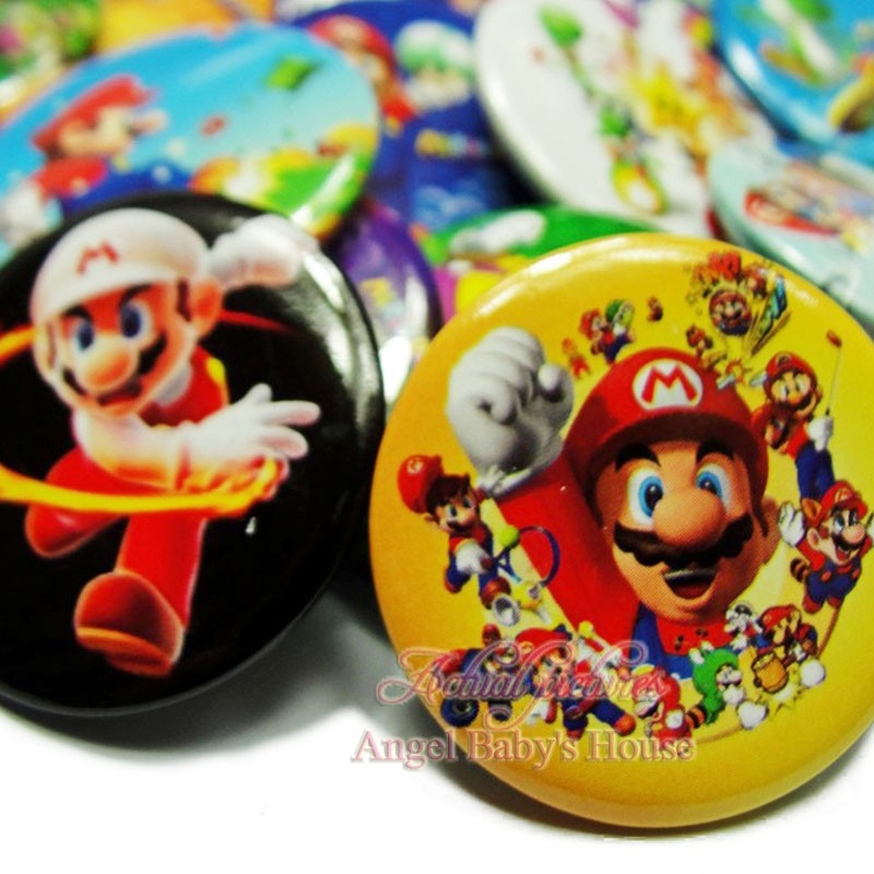 Brooches & Pins Costume Jewellery Ingenious Super Mario Brothers Mushroom Metal Pins Brooches Cute Bag Breastpin Pin 1pcs