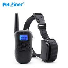 Petrainer 998DR 1 300M uzaktan şarj edilebilir ve yağmur geçirmez 100 seviyeleri titreşim şok elektronik köpek eğitim yaka