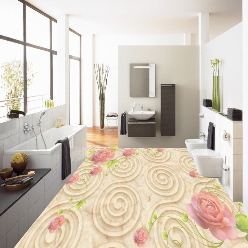 где купить Free shipping custom European classic stone pattern rose 3D floor vintage floor baby room living room thickened wallpaper mural по лучшей цене