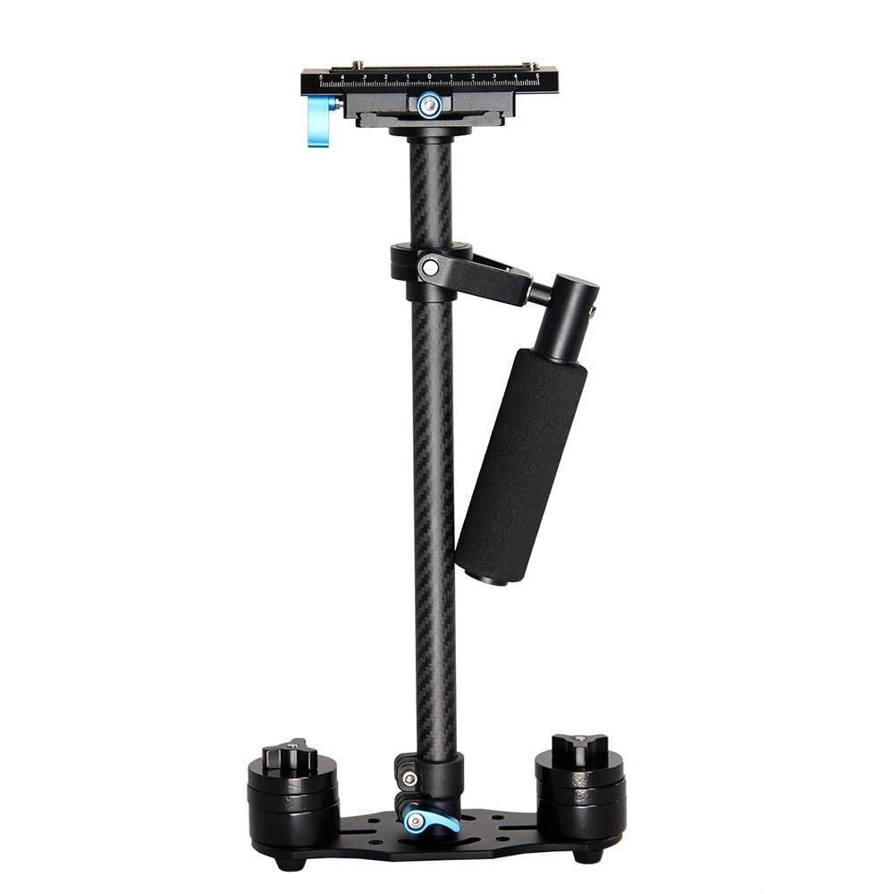 YELANGU S60T fibra de carbono portátil profesional Mini estabilizador de cámara videocámara DSLR Video Steadicam mejor que S60