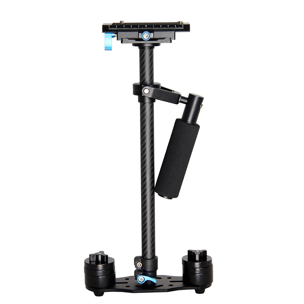 YELANGU S60T portátil profesional de fibra de carbono Mini portátil de estabilizador de cámara DSLR de vídeo de videocámara Steadicam mejor que S60