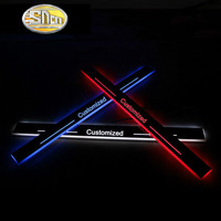 SNCN Trim Pedal LED Car Light Door Sill Scuff Plate Pathway Dynamic Streamer Welcome Lamp For Mercedes Benz CLA W117 2013 2015