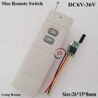 DC 9V Mini Remote Control Switch DC6V 36V 7 4 6V 9V 12V 16V 24V 28V