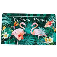Flamingo Carpet Anti-skid Shower Room Shatter-Resistant Floor Mat Bathroom Step Pad skid resistant sea wave bathroom rug