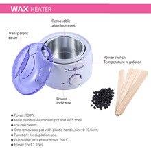 EU/US/UK Plug Depilatory Wax Hair Depilatory Machine 100g Hard Wax Beans Depilatory Wax Spatulas Hair Removal Wax Warmer Shaving