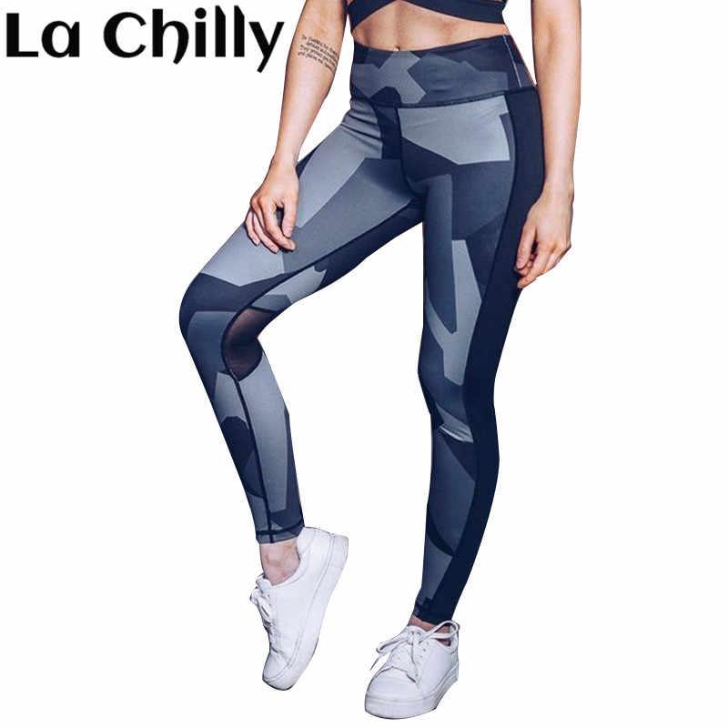 8ecf466d94dd0 Legging Fitness Feminina Academia Women Fashion Mesh Tie Dye Pants High  Waist Geometric Printing Sportswear Workout