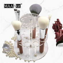 New Acrylic Makeup Brush Holder Organizer MAANGE 1PC 20 Hole