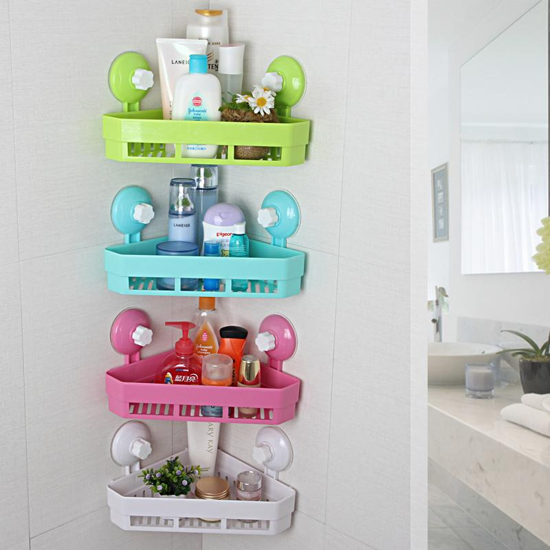 Wall Mounted Kitchen Spice Organizer Shelf Rack Suction Cup Rack Cup Spice Storage Rack Shelving Bathroom Shelves