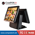 """Epos Solution Cheap Dual Screen 15""""/15"""" Payment Theminalr/Billing Machine/all in one White For Retail Shop"""