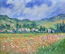 Poppy Field near Giverny by Claude Monet Handpainted