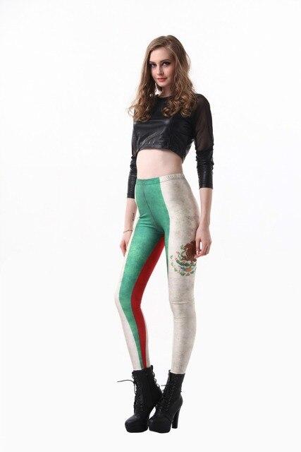 0ef5f35a0859 Nueva mujeres sexy moda Leggings Impresión digital Leggings México bandera  impresión Leggings al por mayor (