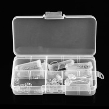 Popular Eyeglass Repair Tool Assortment Set Optical Watch Screwdriver Screws Nuts Nose Pads+Box for Glasses Accessories Sale