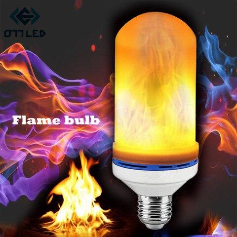 e27 2835 led lampadas de luz efeito chama fogo criativo luzes piscando modo de emulacao