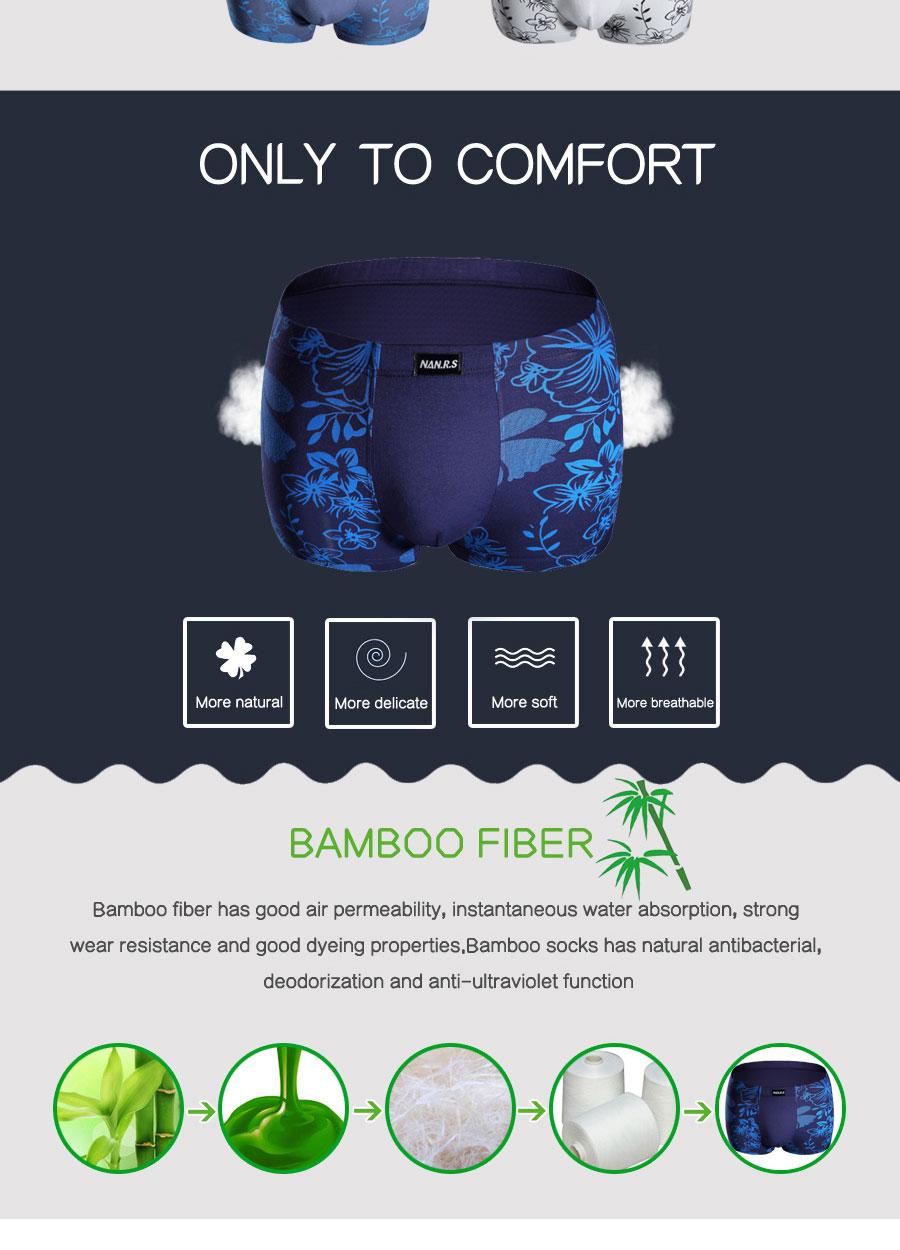 Bamboo Fibre Mens Underwear Boxer Shorts 47