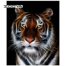 ZOOYA Animal Tiger Diamond Painting DIY 5D Full Square Embroidery Rhinestones Pack Mosaic Kits Home Decor Craft Gift S14