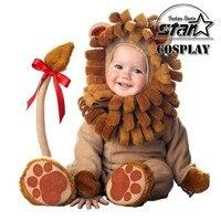 2016 תינוק קטנים חדשים תחפושת האריה בפלאש תינוקות בעלי החיים מצחיקים תינוק ילדים סטי Rompers פנסי חמוד פעוט תחפושת מסיבת ליל כל הקדושים