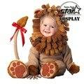 2016 Nuevo Pequeño Bebé León Traje Infantil Animal de la Felpa Divertida Fiesta de Halloween Costume Toddler Mamelucos Lindos Del Bebé Niños Sets de Lujo