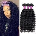 Peerless Indian Virgin Hair Deep Wave 3 Bundles Virgin Indian Deep Curly Hair Hj 8A Raw Unprocessed Virgin Human Hair Extensions