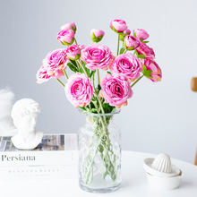 Lism 50cm/long Rose White Silk Artificial Flowers Bouquet 10cm Big Head Fake for Home Wedding Decoration Indoor