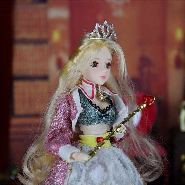 TAROT CARD Major Arcana The empress joint body doll golden blonde hair 34cm east barbi 2