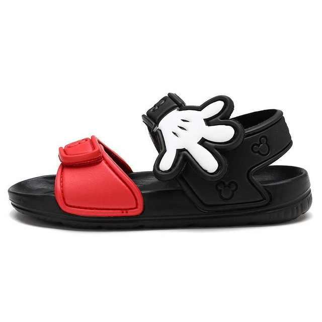 Обувь для девочек; коллекция 2019 года; Летние сандалии с Минни для мальчиков и девочек; удобные шлепанцы на застежке для малышей; высококачественные детские сандалии
