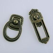 Rustico retro style drop rings drawer shoe cabinet knobs pulls antique bronze kitchen cabinet cupboard dresser door handles knob