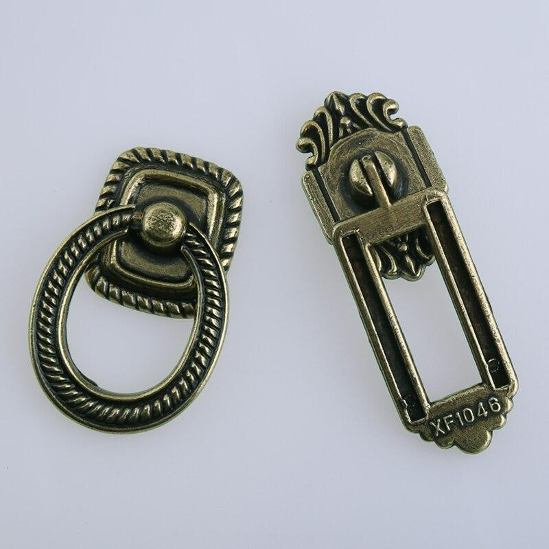 Rustico style rétro drop anneaux tiroir armoire à chaussures boutons tire antique bronze armoires de cuisine placard commode porte poignées bouton