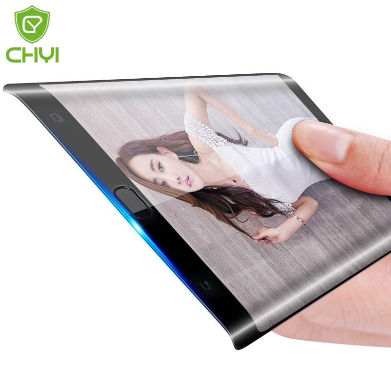 imágenes para CHYI 3D curva para Samsung Galaxy S7/s7 borde de vidrio 9 h dureza vidrio templado protector de pantalla a prueba de explosiones 9 h borde completo