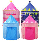 Children Play House Toy Tent Princess Castle Folding Tipi Play Tent Outdoor Yurt Tents for Kids Best Birthday Gift Playhouse