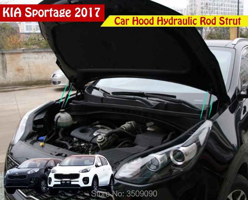 For Kia Sportage QL 2016 2017 2018 Front Hood Engine Cover Supporting Hydraulic Rod Strut Spring Shock Bars Bracket Car Styling car trunk curtain cover special for kia sportage 2016 2017 2018 ql 4th generation