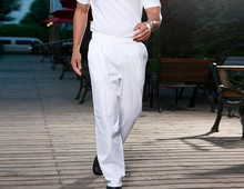 2018 Hot selling men's chef pants Kitchen Trouser chef service pants White color chef pant chef service free shipping