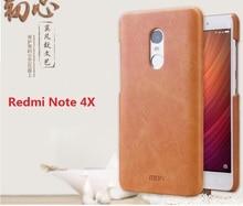 Оригинал mofi для xiaomi redmi note 4x телефон case cover жесткий кожаный чехол назад телефон принципиально note4x про назад саппу 5.5″