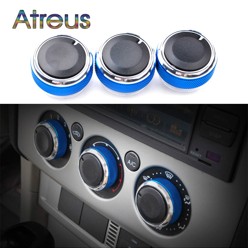 3PCS/LOT AC Knob Car Air Conditioning Heat Control Switch Knob For Ford Focus 2 3 MK2 MK3 ST RS 2005-2014 Mondeo Accessories