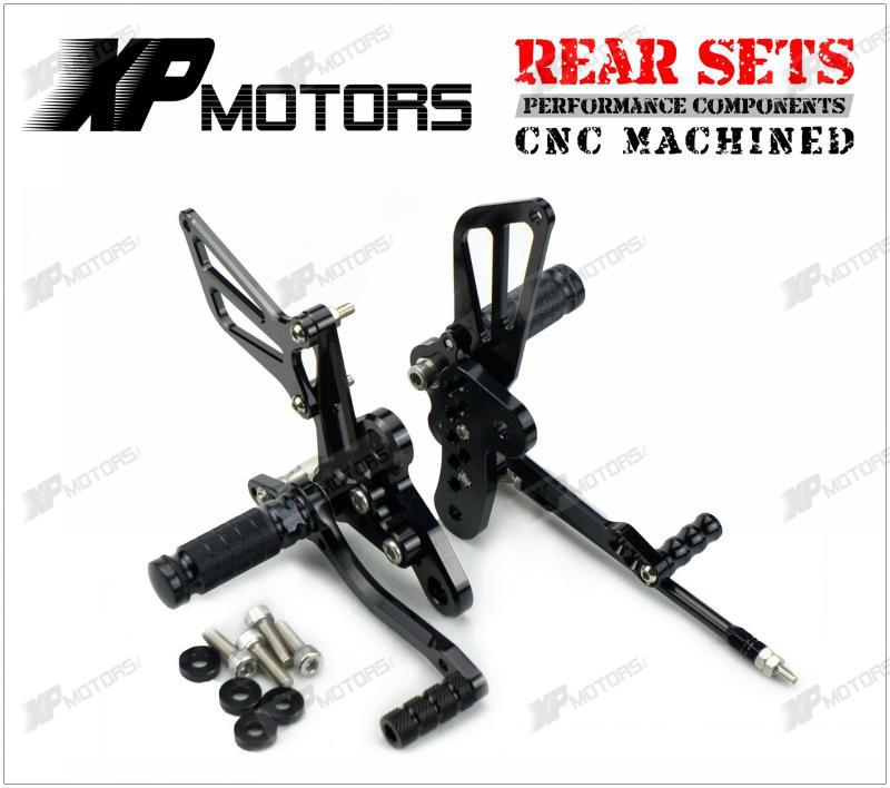 New Adjustable Rearset Footrest Rear Sets For Suzuki Hayabusa GSX1300R 1998 1999 2000 2001 2002 2003 2004 2005 2006 2007 Black 20222426 drawbars