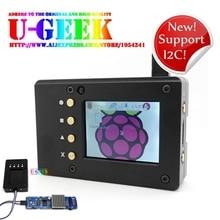 Ugeek металла Портативный Box Kit-Алюминий сплава с ЧПУ чехол + 2.2 дюймов Экран + винт   Поддержка I2C! Raspberry Pi 3 Модель B 2/b +