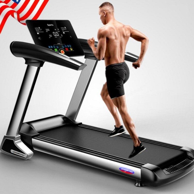 Tapis roulant pliant électrique de Bluetooth d'écran de couleur de HD pour l'exercice à la maison exécutent des Sports d'intérieur d'entraînement pour des tapis roulants de maison
