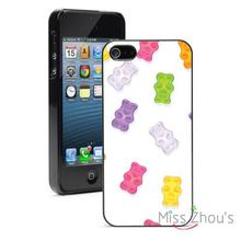 Gummy Bears Pattern Protector back skins mobile cellphone cases for iphone 4 4s 5 5s 5c
