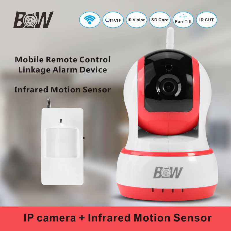 ФОТО 2 Way Audio Wifi Camera + Infrared Motion Sensor Network  Surveillance Security Wireless Camera Monitor Detector BWIPC013P