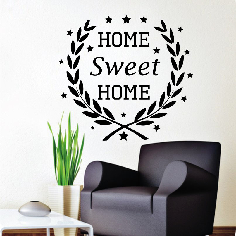 wall decals quotes home sweet home decal star vinyl bedroom