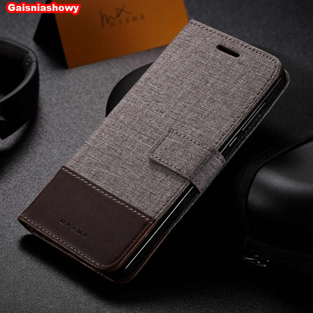 Case For Xiaomi Mi 8 SE A1 A2 5X 6X F1 Canvas PU Leather Wallet Case For Redmi Note 5 6 6A 5A 4 4A 4X Pro Flip Phone Case Cover