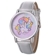 New Fashion Quartz Watch Women Luxury Silver Leather Dress Cartoon Wrist Watches For Clock Ladies bayan kol saati