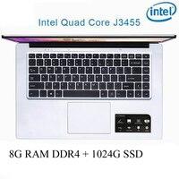 P2-03 6G ram 64G SSD Intel Celeron J3455 игровой ноутбук клавиатура и OS Язык доступны на выбор