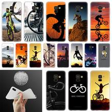 BIKE CYCLING Phone Case For Samsung Galaxy A10 A20 A30 A40 A50 A60 A70 A6 A8 Plus A7 A9 2018 A3 A5 2017 Soft Cover Coque(China)