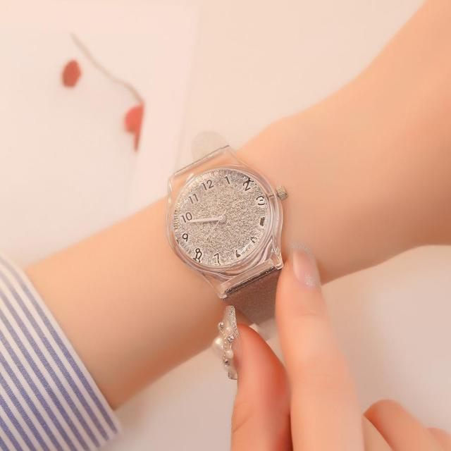 סיליקון נשים של קוורץ שעון פשוט מתנות יפה גבירותיי שעוני יד אופנה בנות צבאי טמפרמנט מזכרות שעון 2018 # D