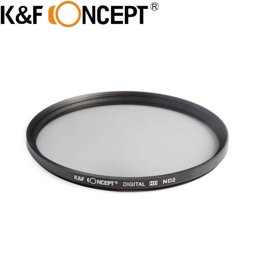 K & F CONCETTO 49/52/55/58/62/67/72/77mm Densità neutra ND2 ND4 ND8 ND Filter Kit per Canon 6D 5D Mark II III Lens + Filtro Del Sacchetto