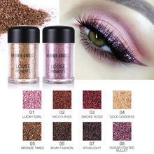 BONNIE CHOICE glitter eyeshadow Metallic Eyeshadow Powder Waterproof Loose Shimmer make up single pigment