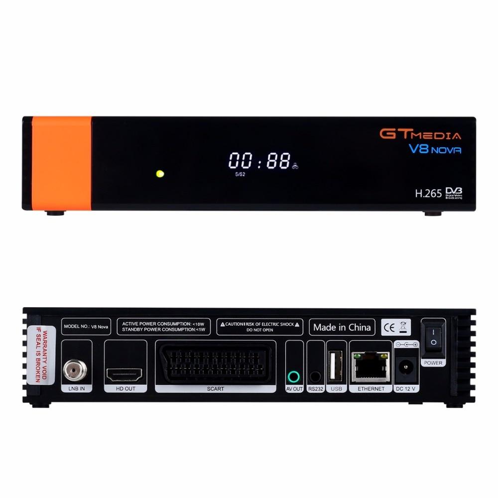 5PCS GTMedia V8 Nova Full HD DVB-S2 Satellite Receiver Same V9 Super Upgrade From V8 Super Decoder Support H.265 Built-in WiFi 3
