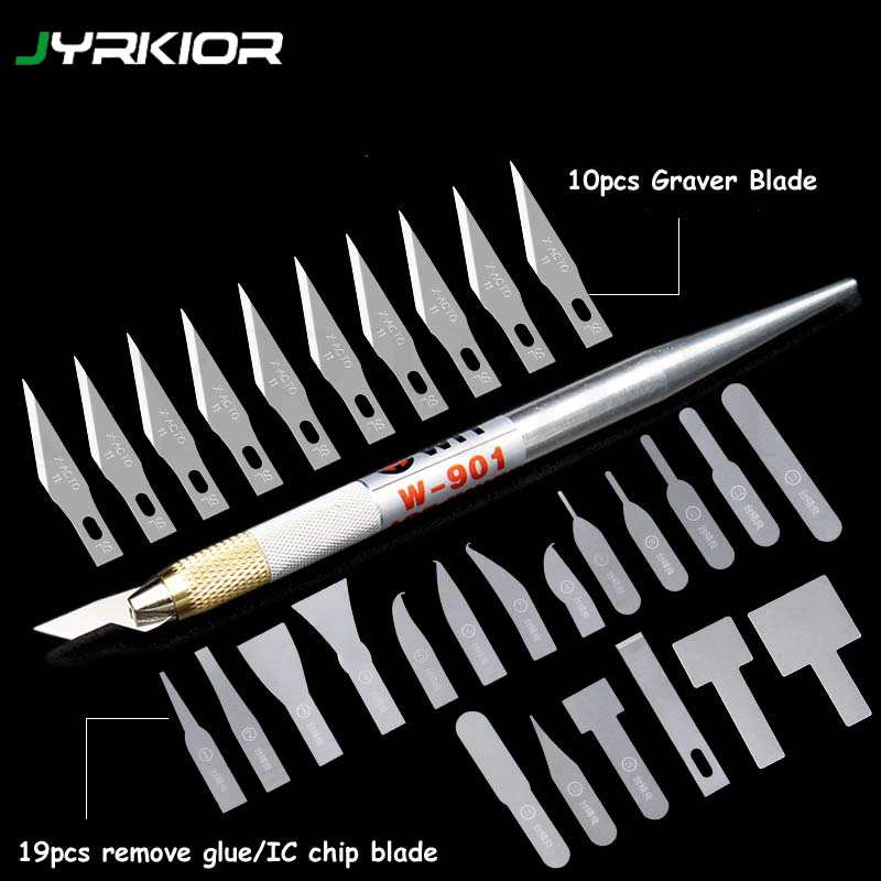 Jyrkior A8 A9 A10 A11 CPU IC Powerful Glue Removal Blade Pry Knife Mobile Phone Motherboard Maintenance Disassemble Tool