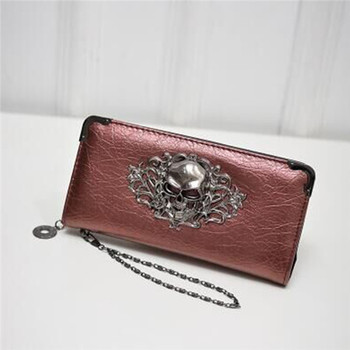 Women's Lace Skull Wallet Bags and Wallets Best Seller Hot Promotions Women's Wallets Color: Red
